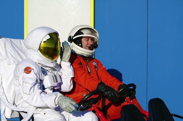 passing astronauts