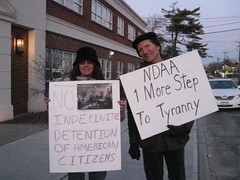 Terri and Jim protest NDAA