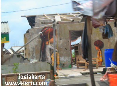 466天后在Mount Merapi发现废墟墙上的绘画