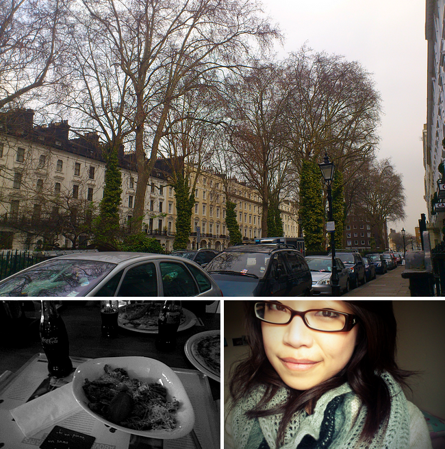 daisybutter - UK Style Blog: week in photos, london, townhouses, winter, hyde park square, vapiano's, #zomgbloggersbash