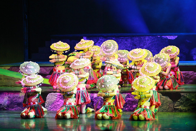 Show at Zhang Jia Jie Theater, Wulingyuan, Hunan