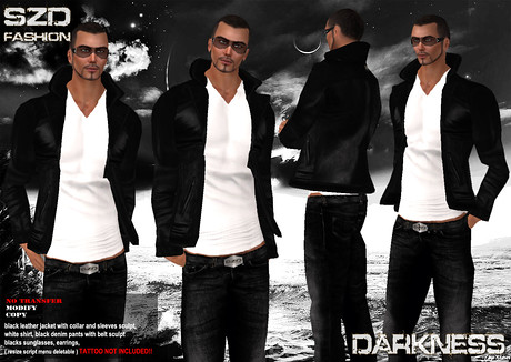 :SZD: Darkness ( Man Outfit ), 260 lindens by Cherokeeh Asteria