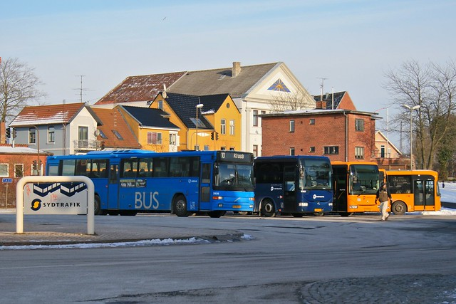 Busses at the station