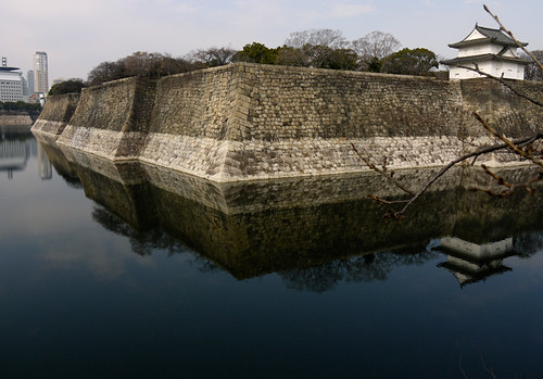 Stone Wall of Osaka Castle by hyossie