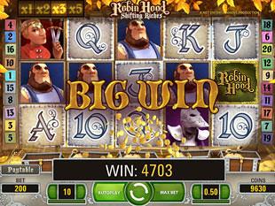 Robin Hood Shifting Riches bonus game