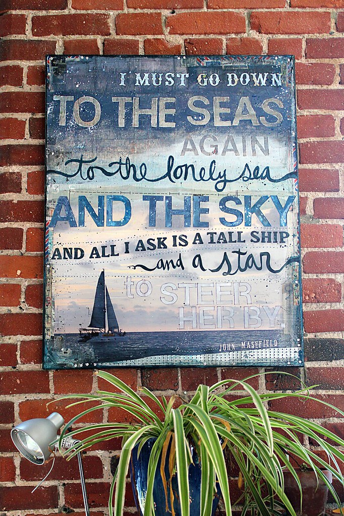 sea fever hung on our wall