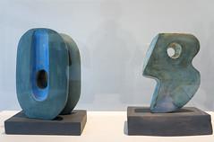 Barbara Hepworth working models in plaster for bronze sculptures