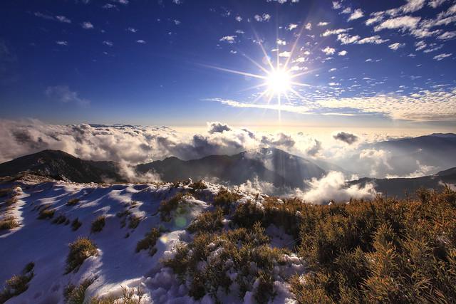 snow scene at Hehuanshan 合歡雪景