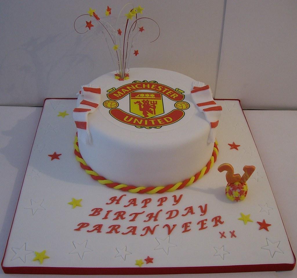 Manchester United 21st Birthday Cake