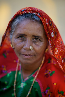 Old Indian woman, village near Bujh, Gujarat