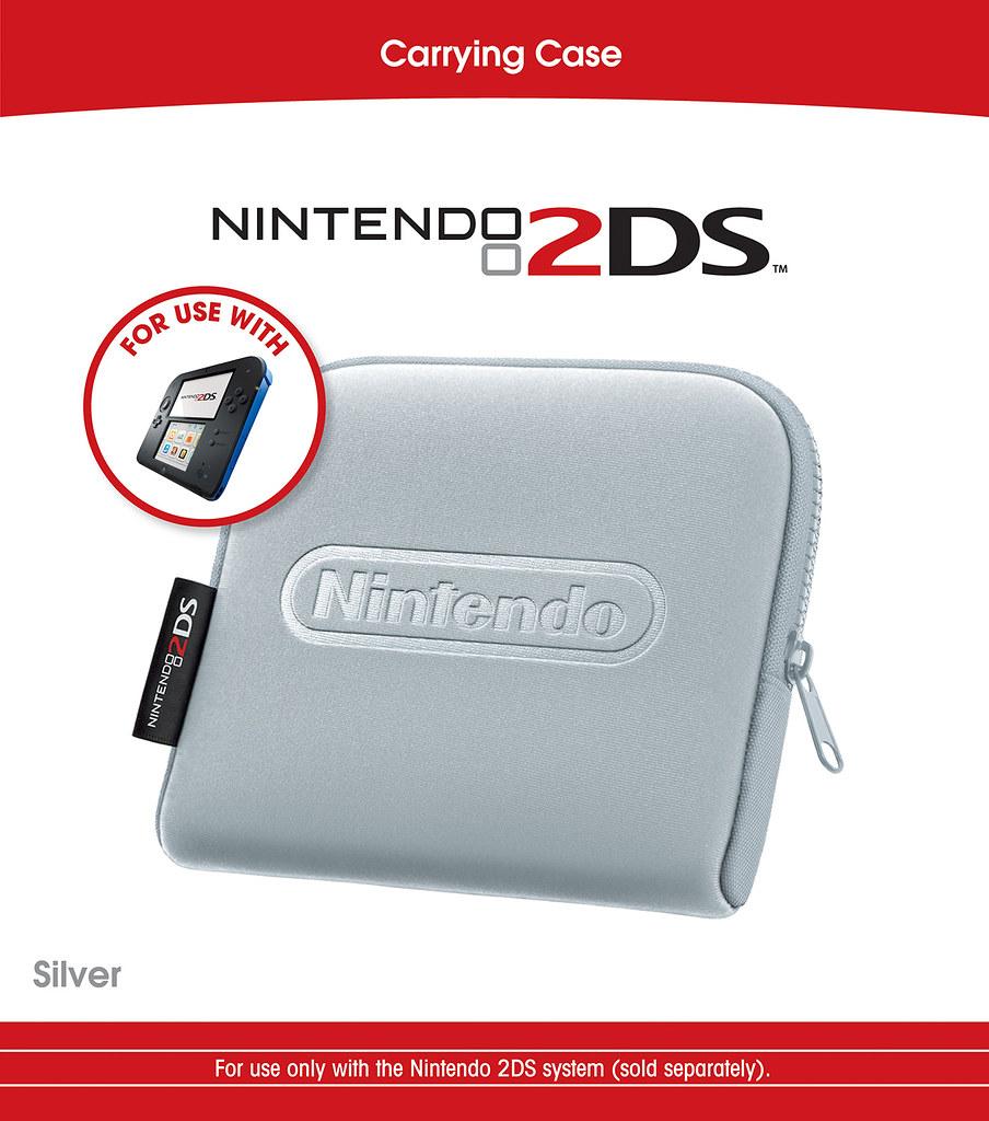 Nintendo 2DS Silver Carry Case