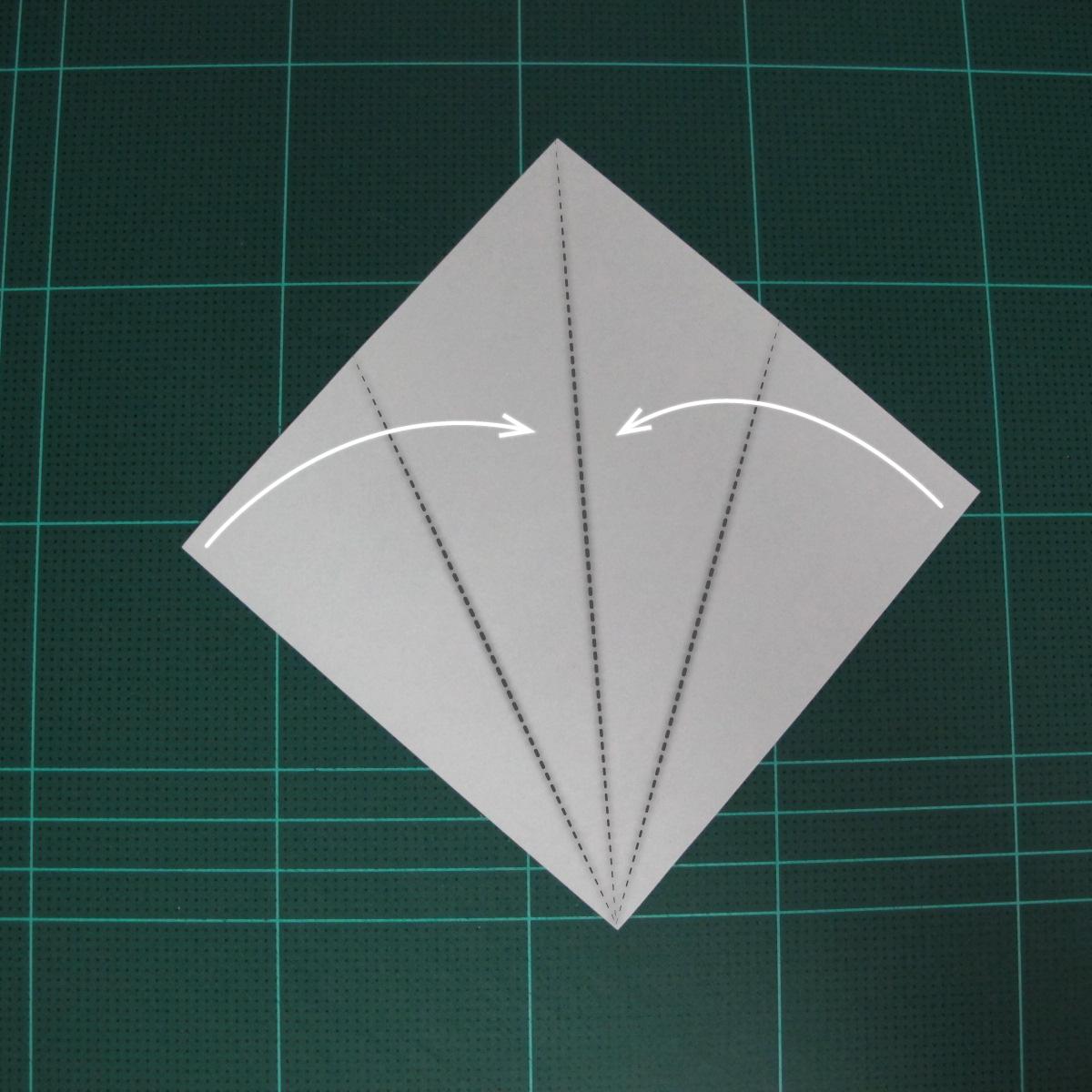 การพับฐานปลา (Oigami Fish Base) 001