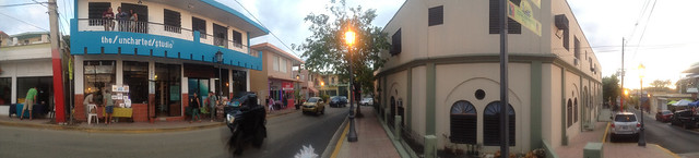 Setting up for Artwalk in Rincon, PR