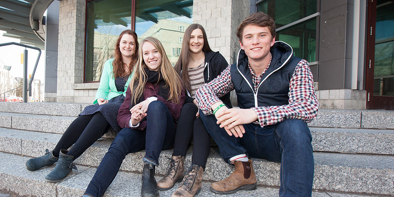 Kristine O'Rielly, Kate Thompson, Jess Peters and Nick Castel (left to right) will participate in a national sustainability leadership conference in May.