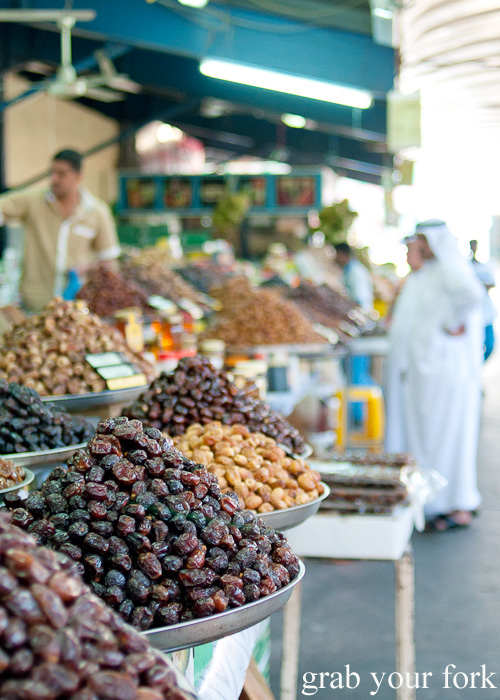 Dates at Al Hamriya Fruit and Vegetable Market next to Dubai Fish Market in Deira
