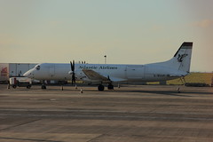 Atlantic Airlines BAe ATP, G-BUUP, sat on Cargo at Newcastle Airport - 19/04/14...