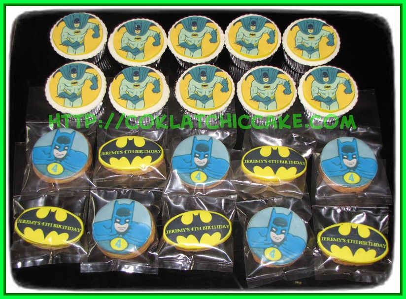 cupcake dan cookies batman