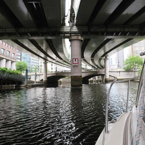 川から眺める東京の景色は、全く違って見える。 #ヤマハマリン #勝どきマリーナ