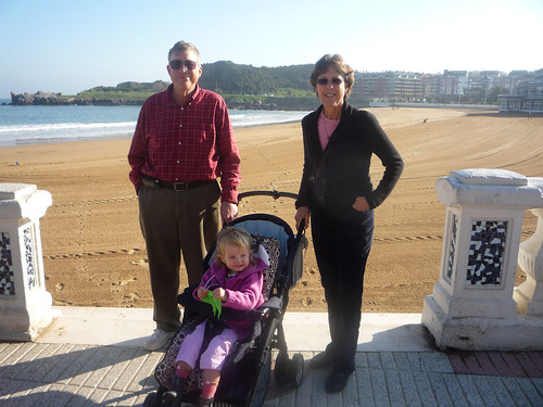 Paul, Betsy and Nora in Castro Urdiales