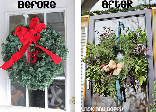 wreath before and after