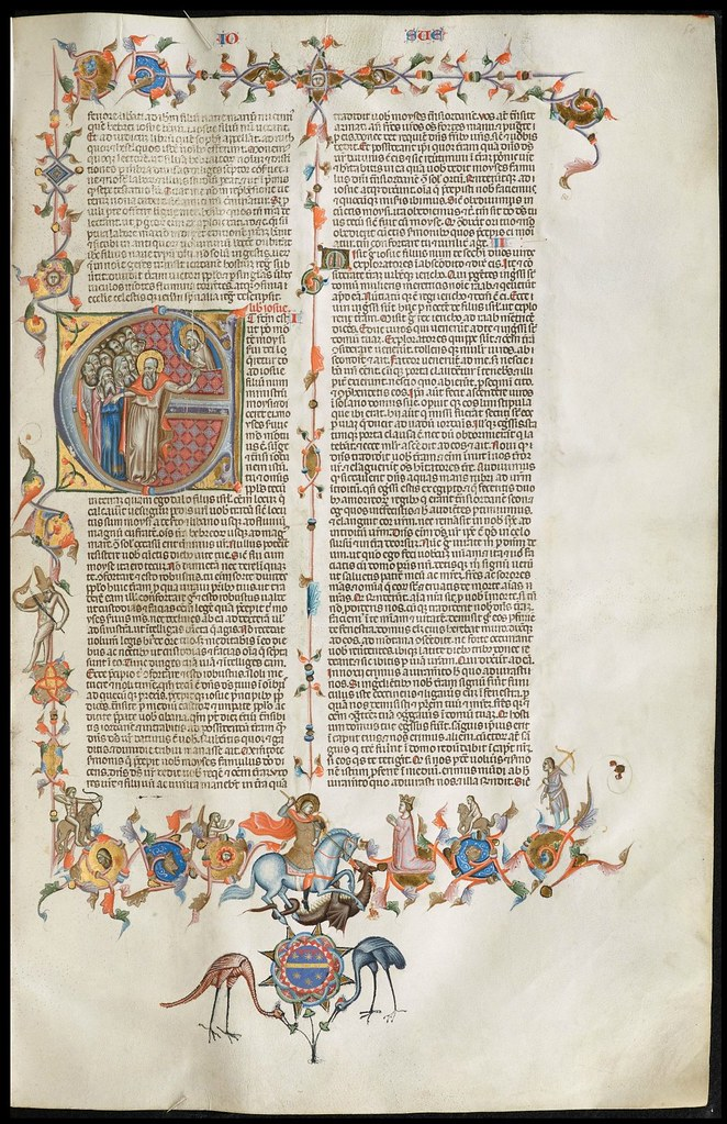 illuminated manuscript page from Anjou Bible