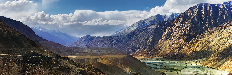 Долина Нубра. Ладакх, Индия . Панорамы Гималаев