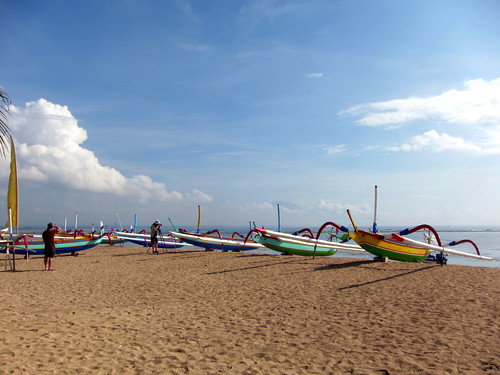 Sanur Beach Boats