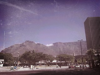 Cape Town and Table Mountain.