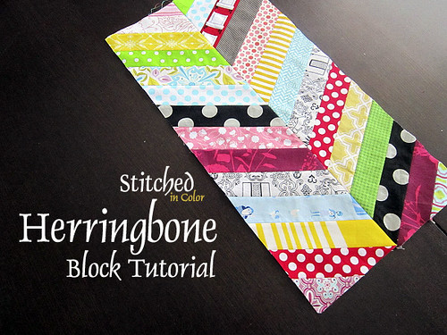 Herringbone Block Tutorial — Stitched in Color