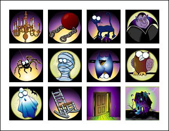 free Haunted House slot game symbols