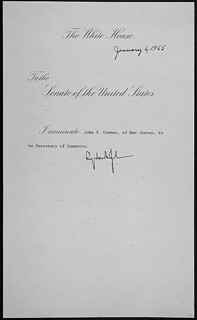 Message of President Lyndon B. Johnson nominating John T. Connor of New Jersey to be Secretary of Commerce, 01/06/1965