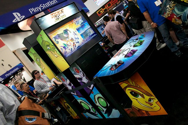 Ratchet & Clank: All 4 One arcade cabinet