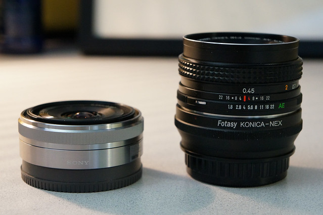 Konica AR 40mm f/1.8 Pancake on Sony NEX 5N