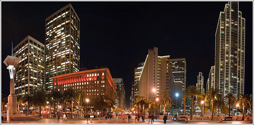 336 of 365 - San Francisco Embarcadero Lights Pano.