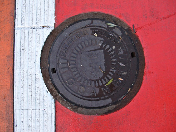 Gdansk manhole cover