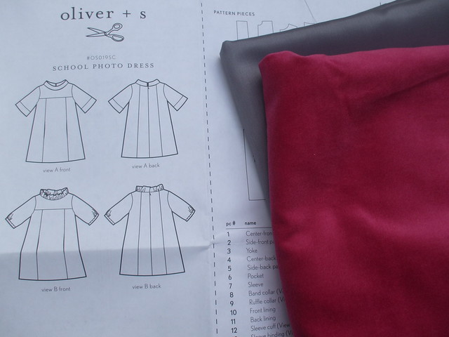 school photo dress in progress