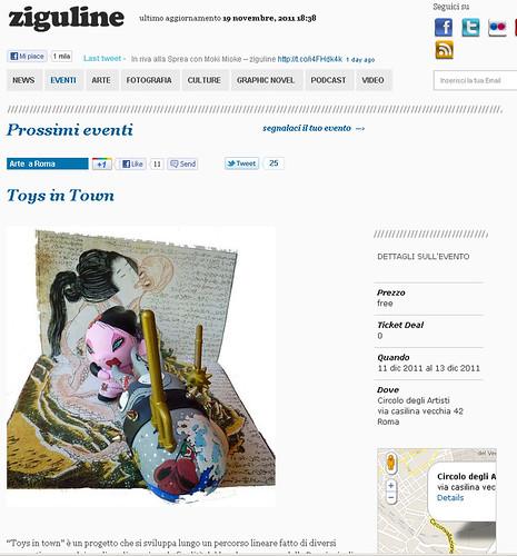 omino71 per ziguline @ toys in town - circolo degli artisti roma by OMINO71