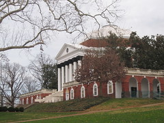 UVA Rotunda on a cloudy December Day