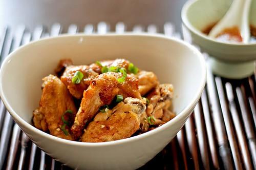 Momofuku chicken wings in octo vinigarette