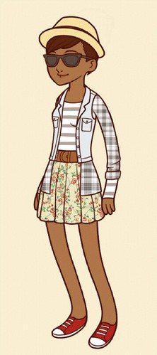 Hipster Paper Doll