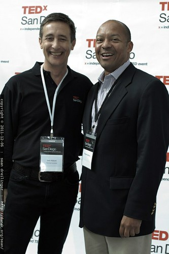 TEDx San Diego founder Jack Abbott with Dwayne Gathers    MG 3776