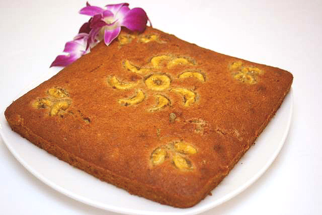 Although simple, the banana cake was one of the best-tasting items