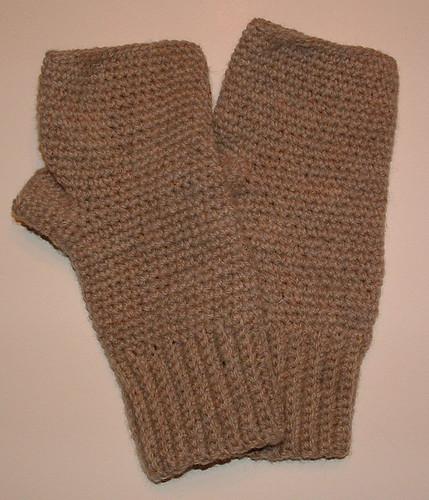 Mens Crocheted Fingerless Gloves My Recycled Bagscom