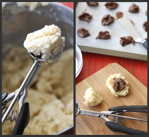 Nutella & Sea Salt Stuffed Sugar Cookie Recipe | cookincanuck.com #cookies #Nutella