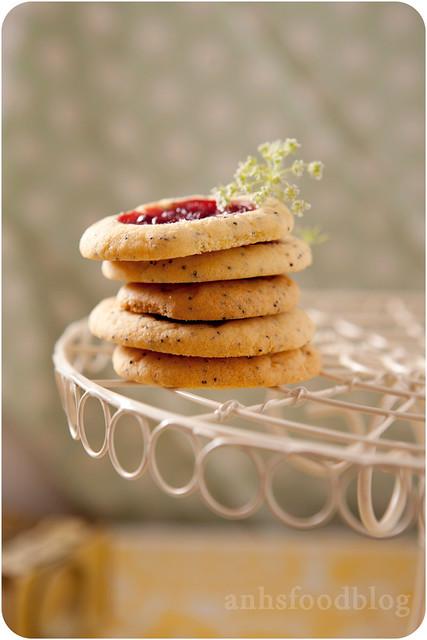 Jam thumb print cookies