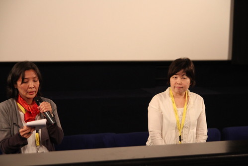 Yoko Ide during the post-screening Q and A of Shoji & Takao