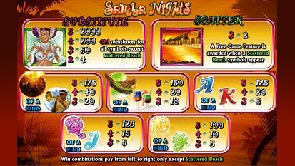 free Samba Nights slot mini symbol