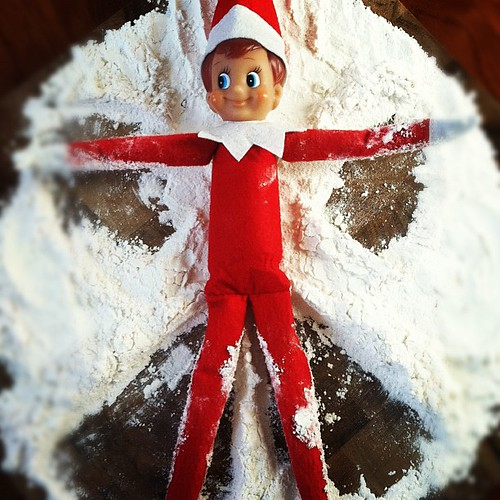 Buddy must really miss the North Pole. #elfontheshelf