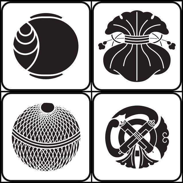 tsuchi, fukuro, kinutemari, gionmamori (furnishing - kamon)