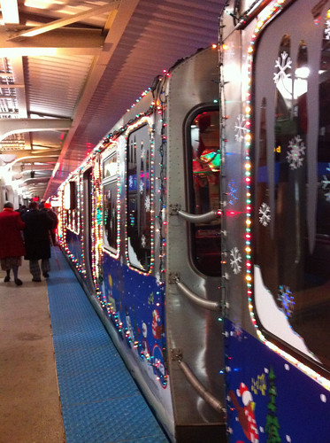 The CTA Holiday Train (by: paradem/Mairead, creative commons license)